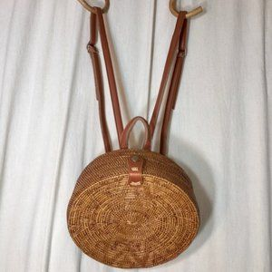 Handbags - ATA Rattan Round Backpack